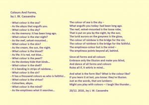 Colours and Forms poem