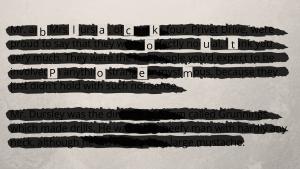 Black out poem at UpDivine