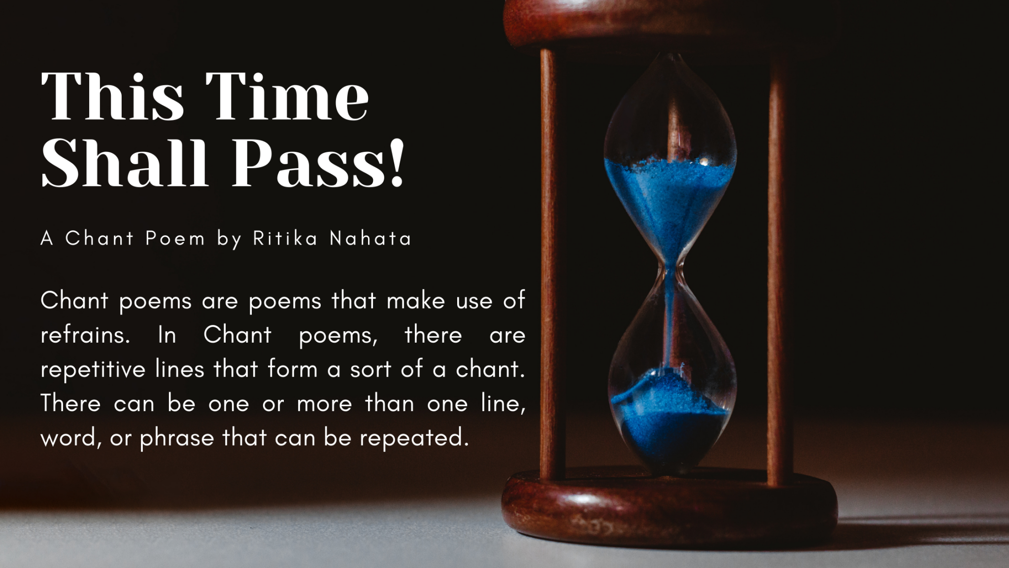 This time shall pass | A Chant poem by Ritika Nahata at UpDivine